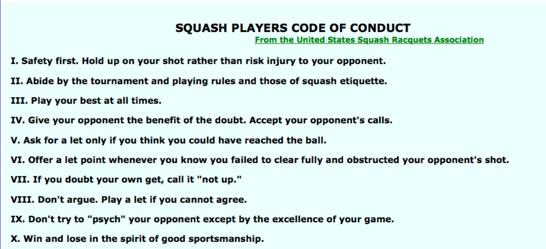 Rules Of Fair Play