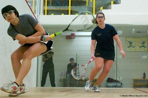 Smith Squash Co-Captain Sophomore Elizabeth Guyman