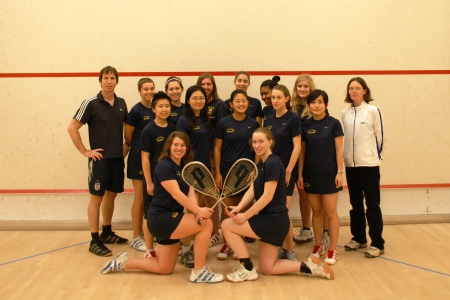 Smith College Squash Team 2008-09 - Fall top 13