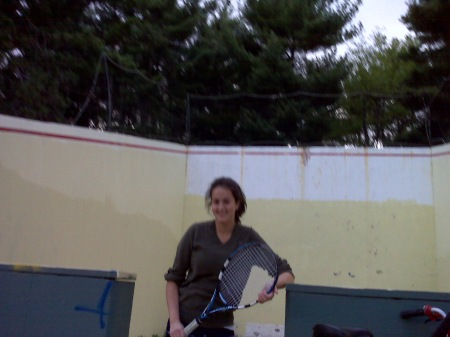 Jessica Kaplan @ Vermont's Outdoor Squash Court