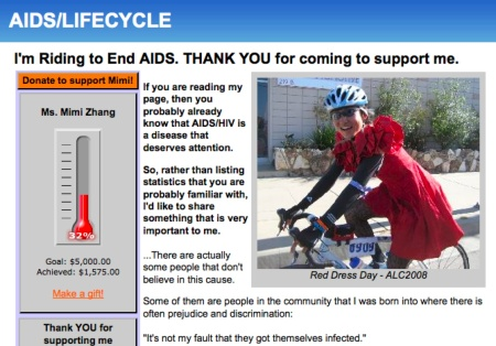 Squash Alum Mimi Zhang rides for AIDS