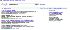 google squash coaching