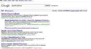google squash science